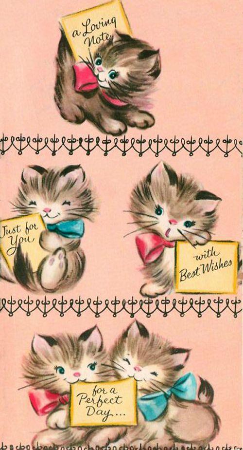 vintage birthday cats cat - photo #18