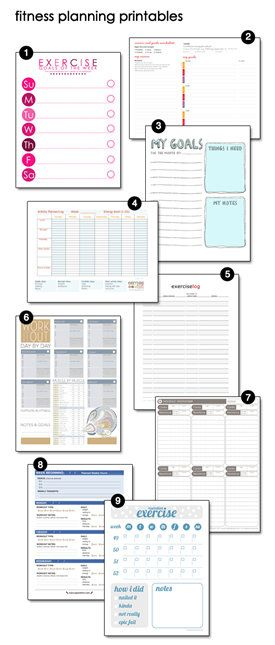 free printable fitness planning trackers-- where has this been my - Free Fitness Journal Printable