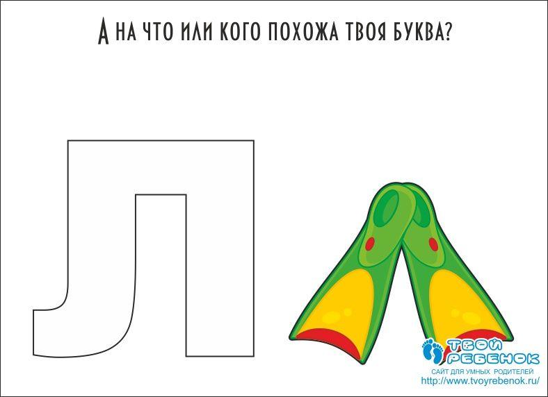На что похожа буква Л | Алфавит, Обучение, Картинки