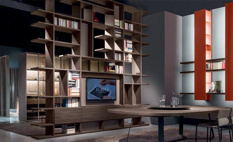 Meuble TV bibliothèque en 40 idées pour organiser le rangement ! House