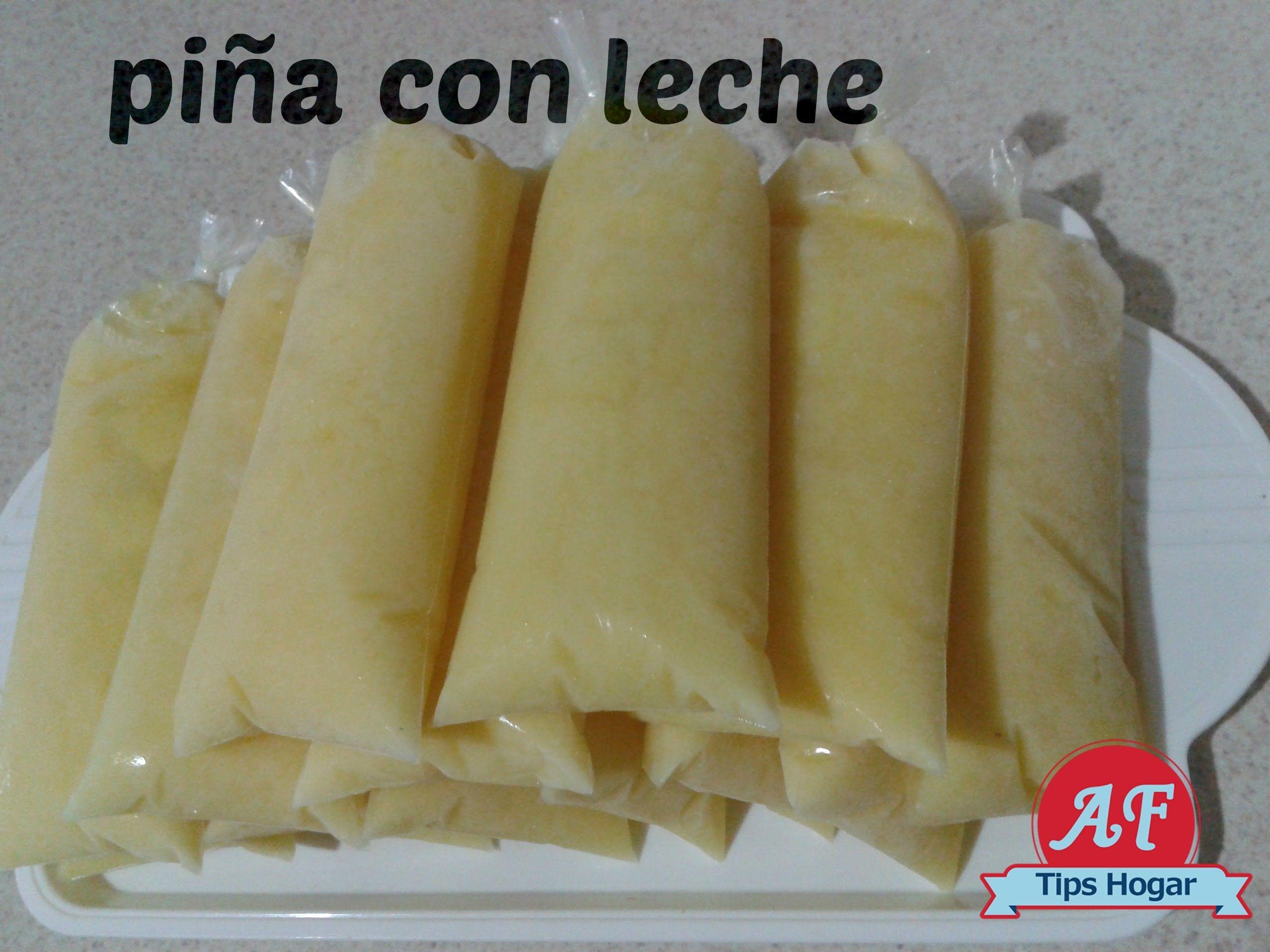 helados de piña con leche facil y rapido by angy