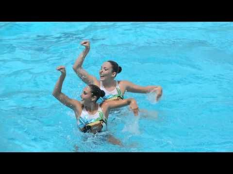Dueto livre nado sincronizado 2016 Brasil, Vila Olimpica Joao Pessoa