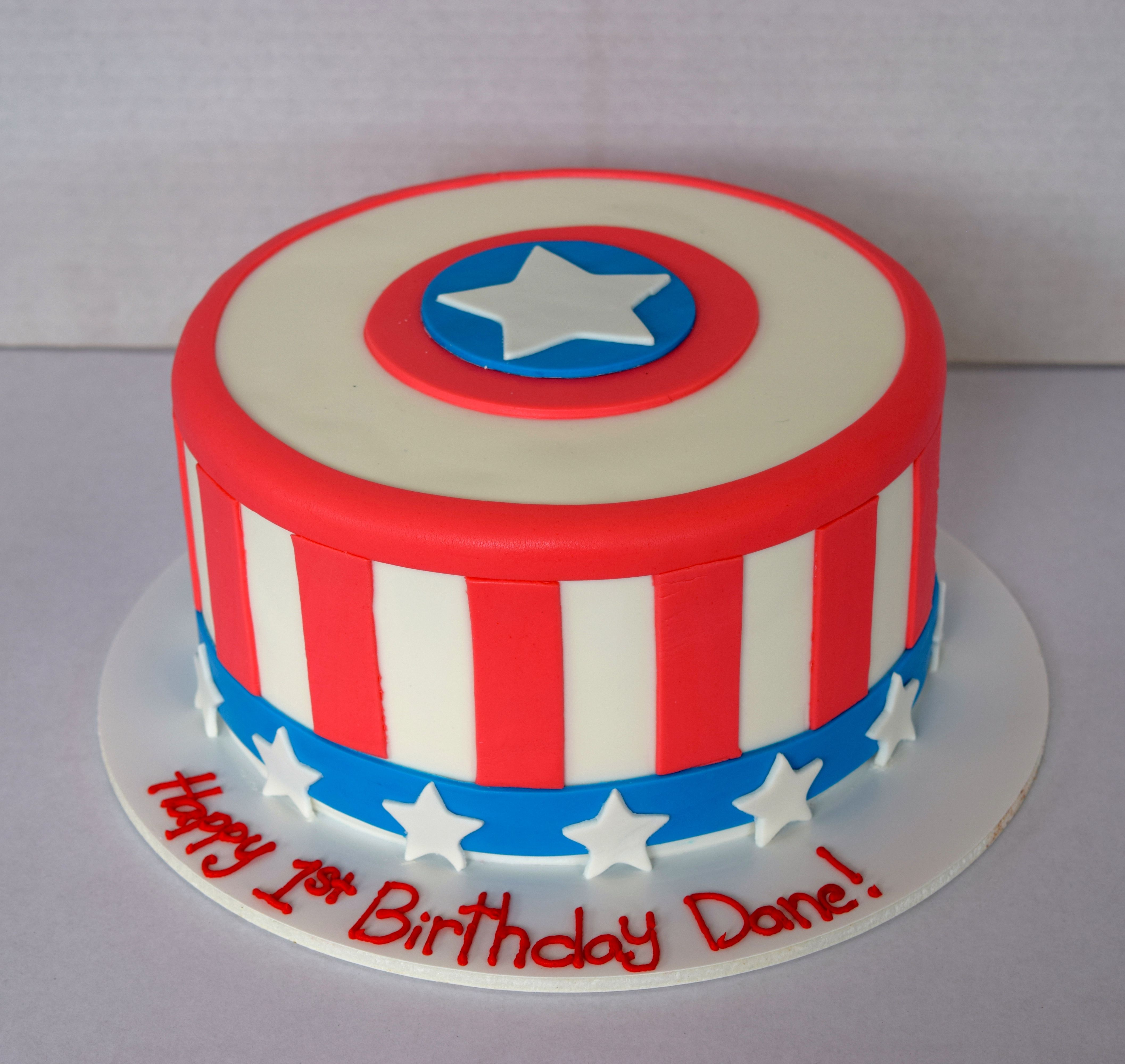 Captainamerica Birthday Cake For The Win We Love The Red Stripes On