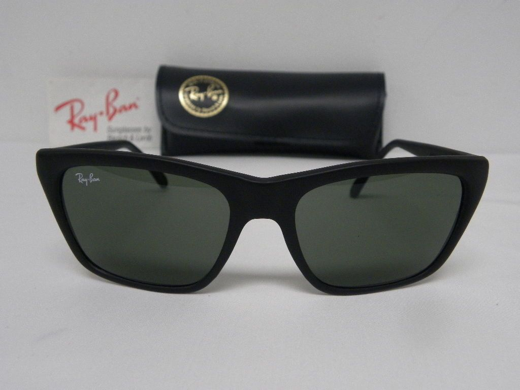 629709edf08 New Vintage B L Ray Ban Cats 3000 Matte Black W1036 USA NOS