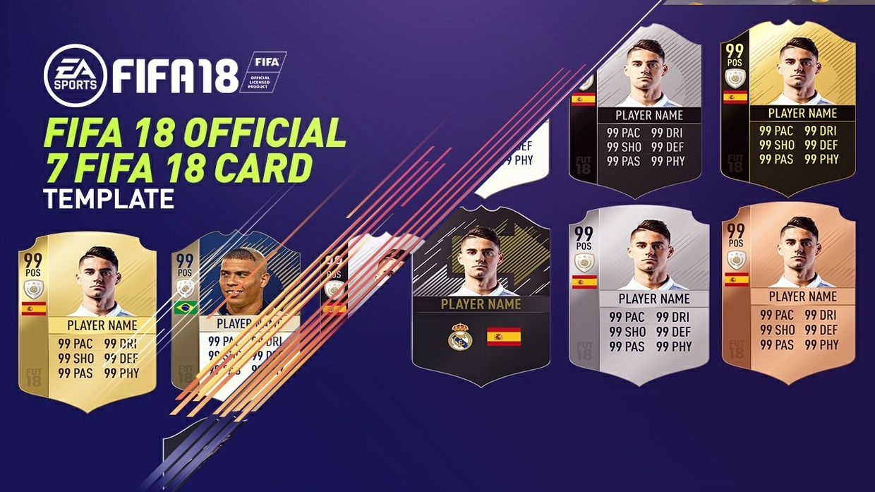 You Will Get 7 Fifa 18 Card Templates Confirmed Designany Donations Towards This Free Pack Will Mean Alot Thanksrules Commeri In 2021 Card Templates Cards Fifa Card