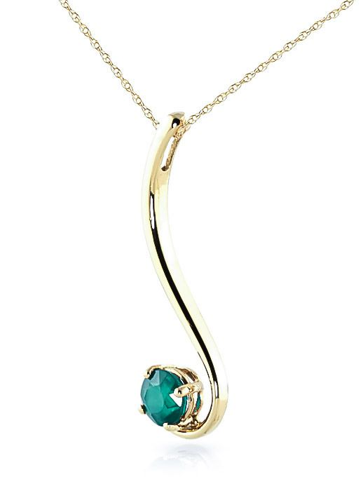 ab7421b99 Emerald Swish Pendant Necklace 0.55 ct in 9ct Gold - 2426Y