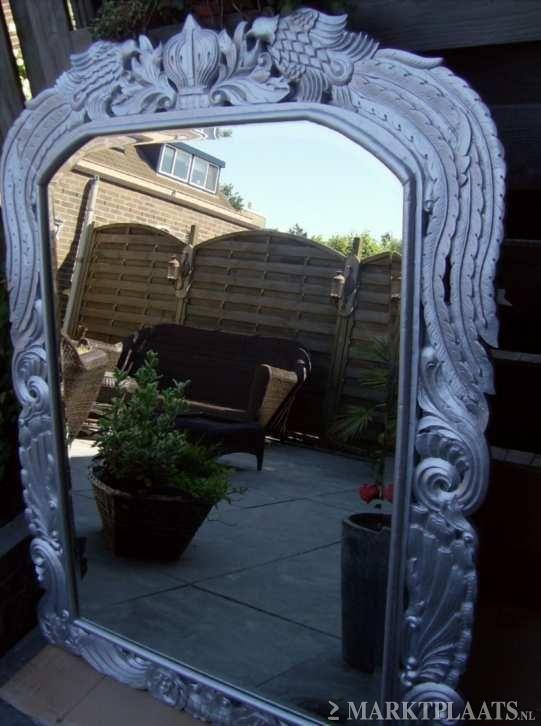 Nu kopen facetgeslepen spiegel in bewerkt for Marktplaats spiegel