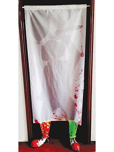Scary Clown Door Curtain Prop Decoration Scary Halloween Clown Decorations Halloween Door Decorations Halloween Door Halloween Window Decorations