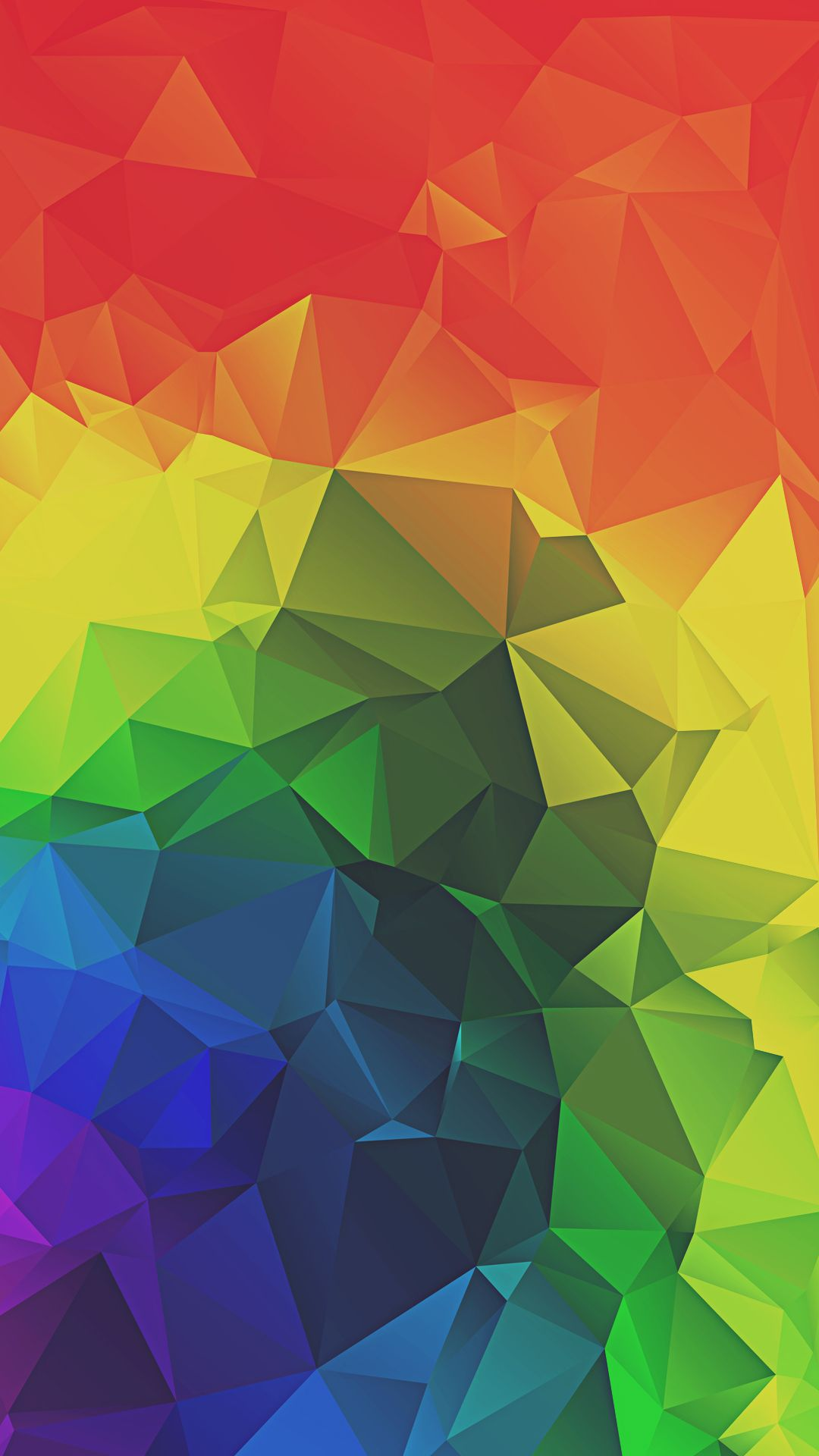 rainbow triangles abstract iphone 6 hd wallpaper