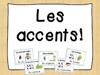 French Accent Posters Les Affiches Des Accents French Classroom French Class Kindergarten Resources