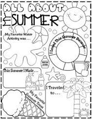 Image result for what you did in the summer worksheets