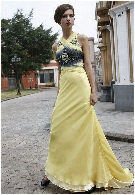 Criss Cross Straps,Beading & Pleats,Sheath  www.idealweddinggowns.com/satin-high-neckline-sheath-floo...     model gelin