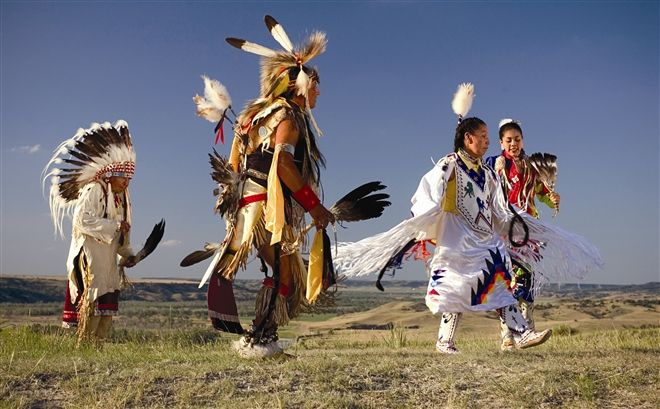 Native American heritage is celebrated throughout South Dakota at powwows and other events.