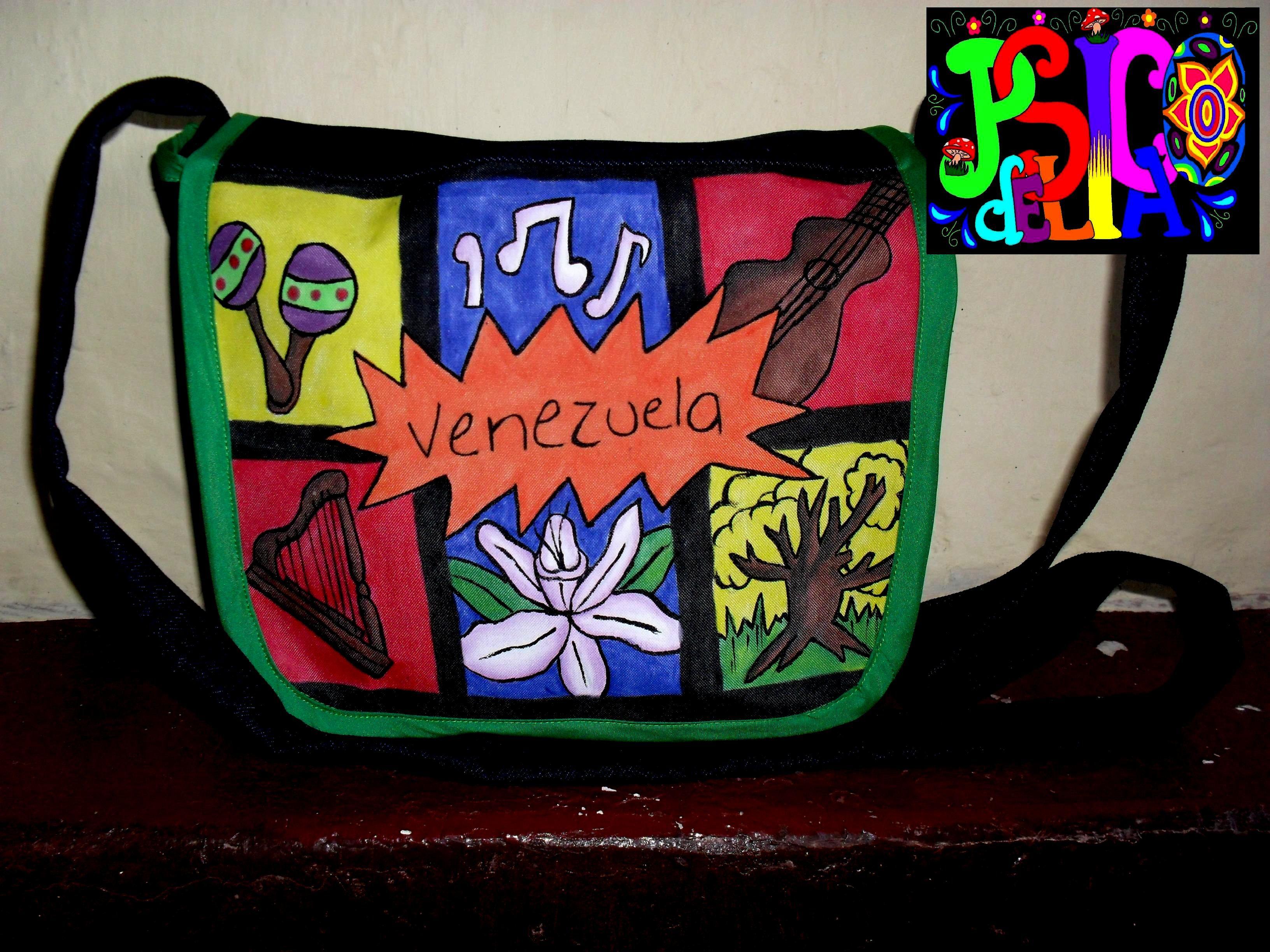 Cultura Venezolana: Bolso de drill pintado a mano