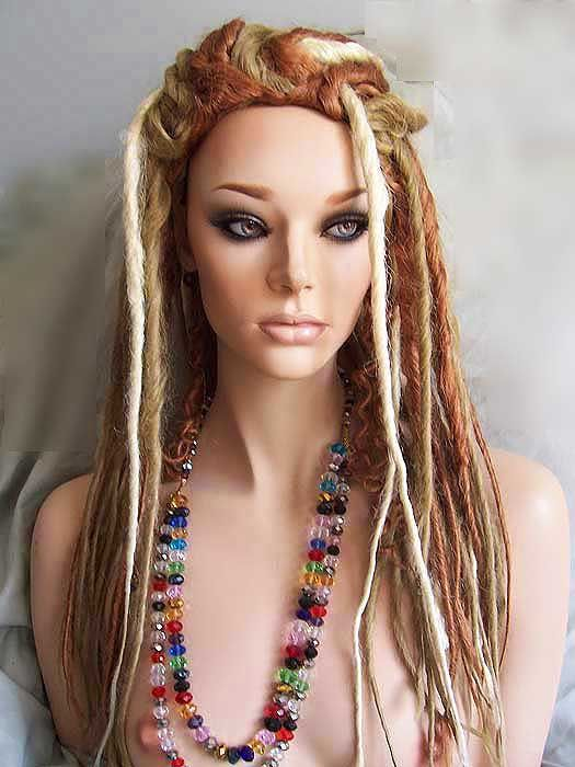 Wig Nirvana Narnia Dreadlock Wigs Golden Blonde Strawberry Blonde Pale Blonde Costumes