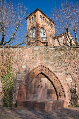 Pictures of Worms, Germany: Fountain near the Jewish Cemetery and the City Museum of Worms