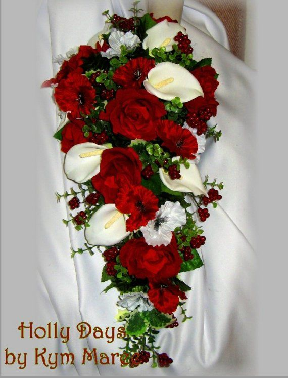 Wish List HOLLY DAYS Christmas Wedding Flowers By BridalBouquets On Etsy 7000