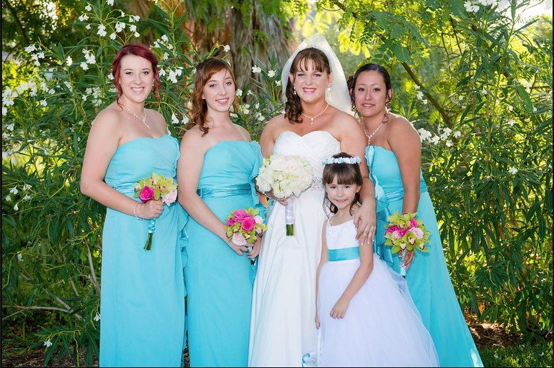 Summer Wedding with the Tiffany Blue with touches of Cymbidium..