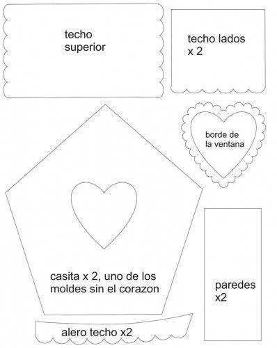 moldes casita buho 2 | Felt pattern | Pinterest | Molde, Goma eva y ...