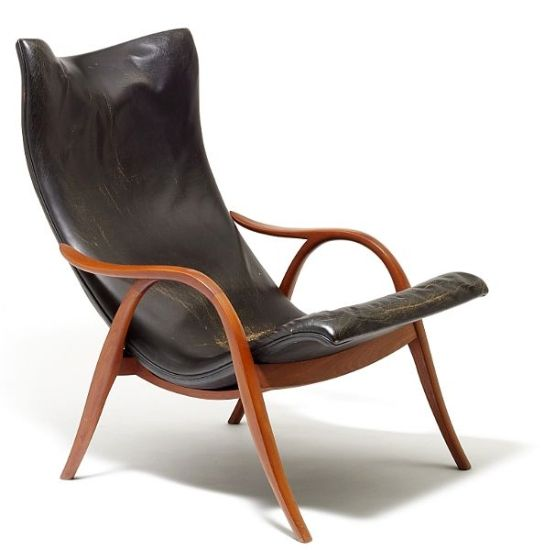 Frits Henningsen's personal recliner, designed by him around 1950