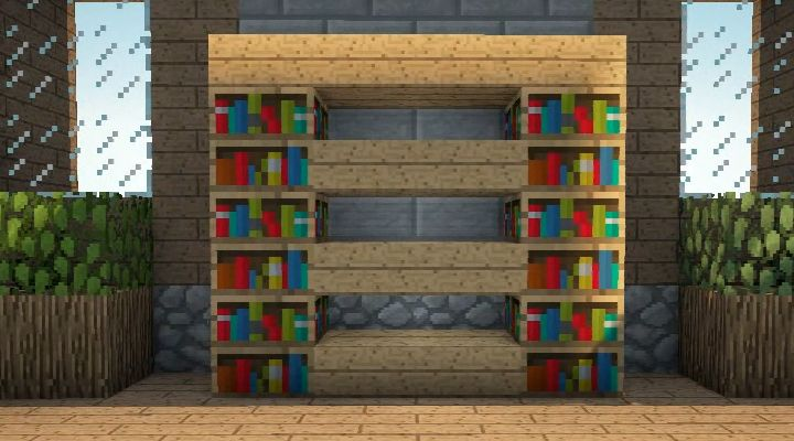 Bookshelf & Storage Minecraft furniture, Minecraft room