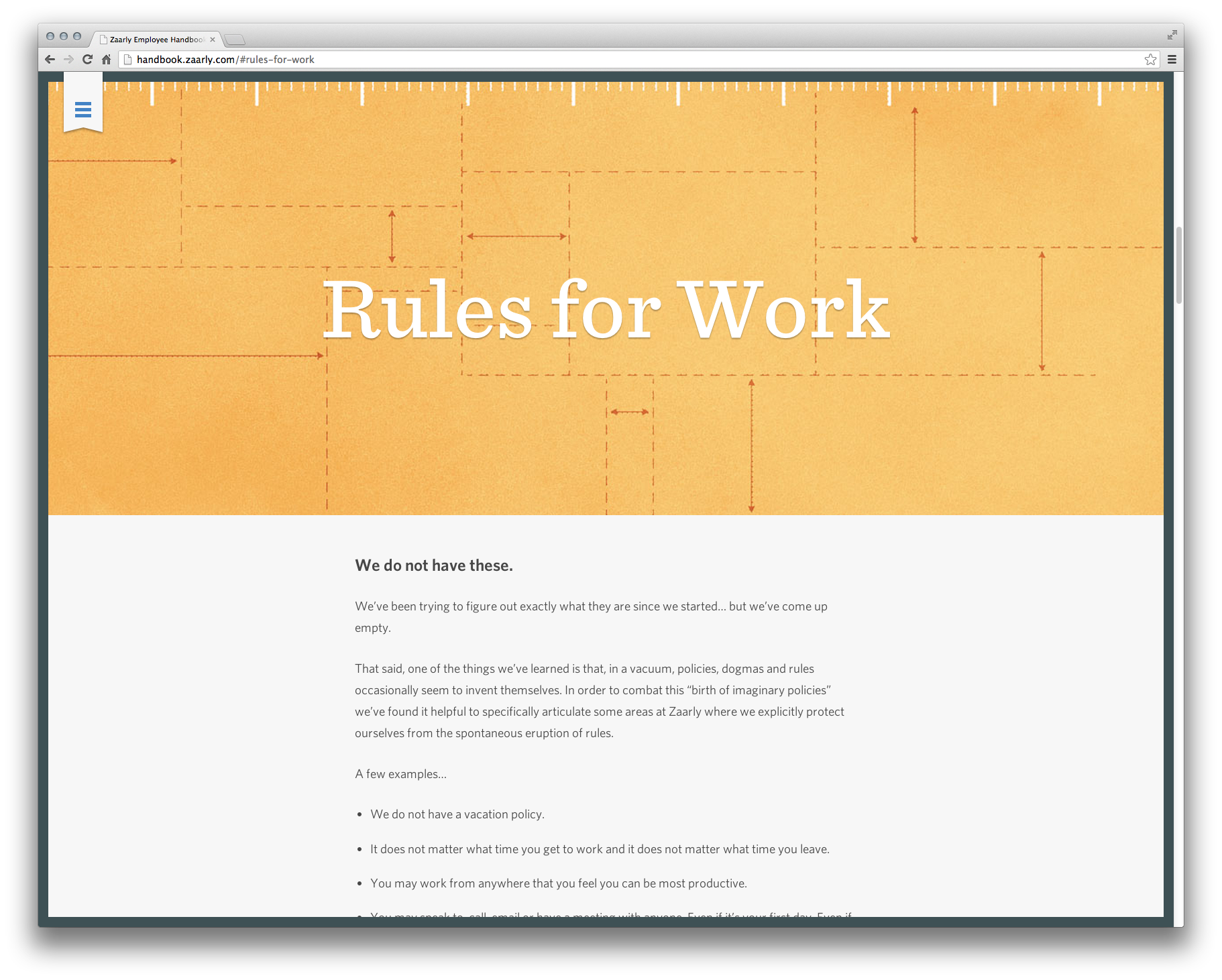 Super Clean WebBased Employee Handbook  Design Web  UiUx