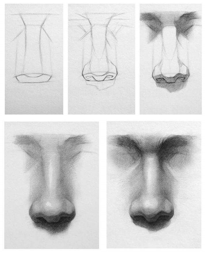eyebrow shading drawing. this will help with drawing noses and getting the human nose right realistic eyebrow shading b