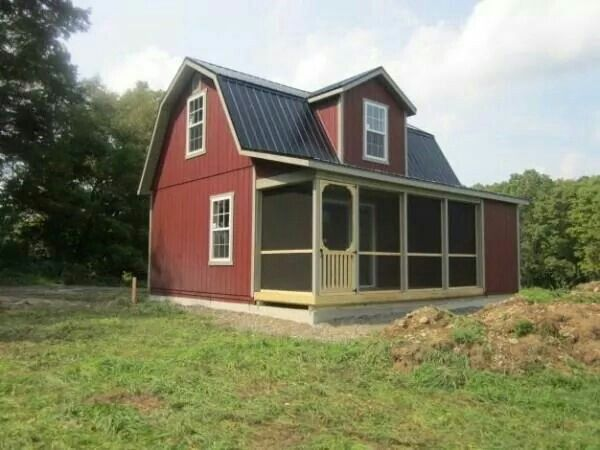 18x24 Two Story Dutch Cabin W 6ft Porch Tiny House Cabin Amish Barns Shed Homes