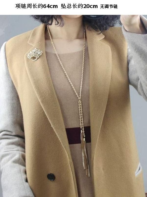 Chic Gold plated Helix Long Sweater Tassel Chain Pendant Necklace Lady Jewelry #Unbranded #fashion