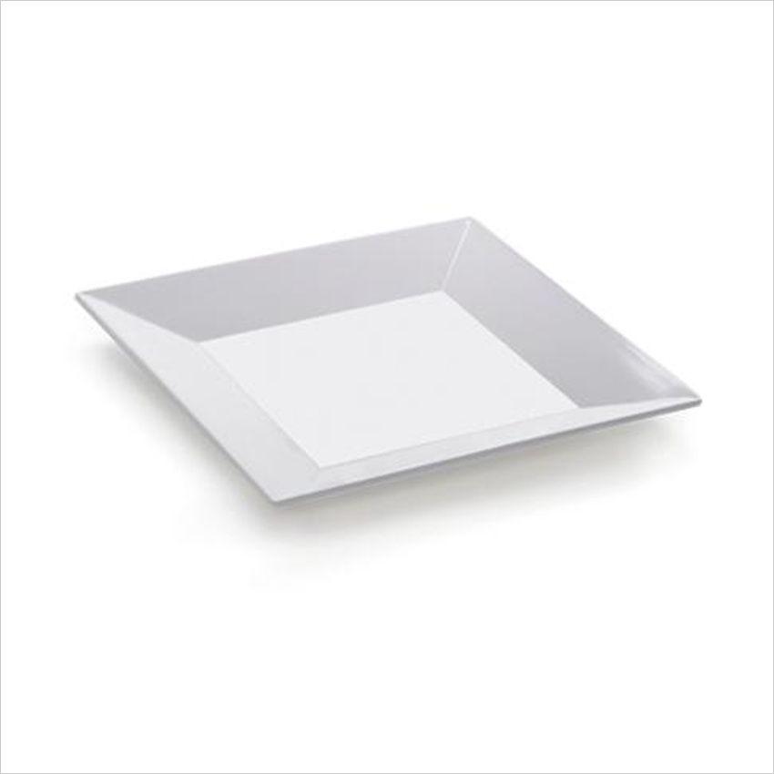 Siciliano 6 inch Square Plate White Melamine/Case of 12 Dessert Plate Siciliano & Siciliano 6 inch Square Plate White Melamine/Case of 12 Dessert ...