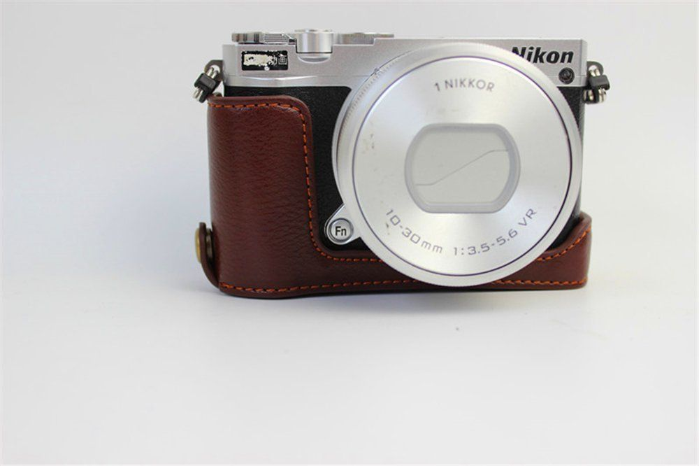 Genuine Leather Half Case for Nikon F2 Brown BRAND NEW