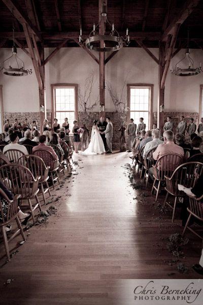 Simple and rustic wedding venue