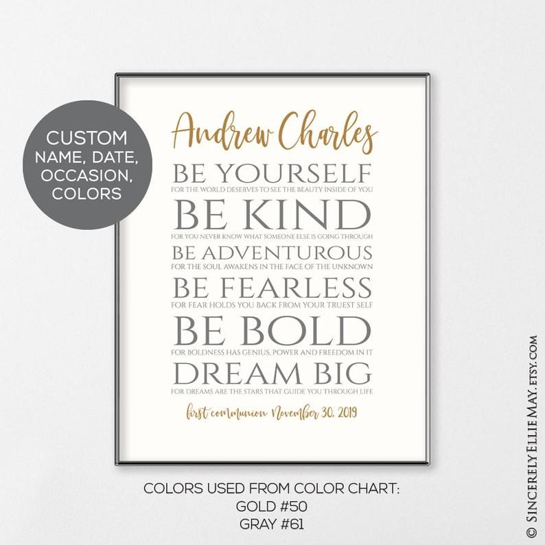 First Communion Boy Gift Personalized Christening Baptism Dedication Typography Wall Art Inspirational Gifts You Print 40448 Typography Wall Art Printable Wall Art Gifts For Boys