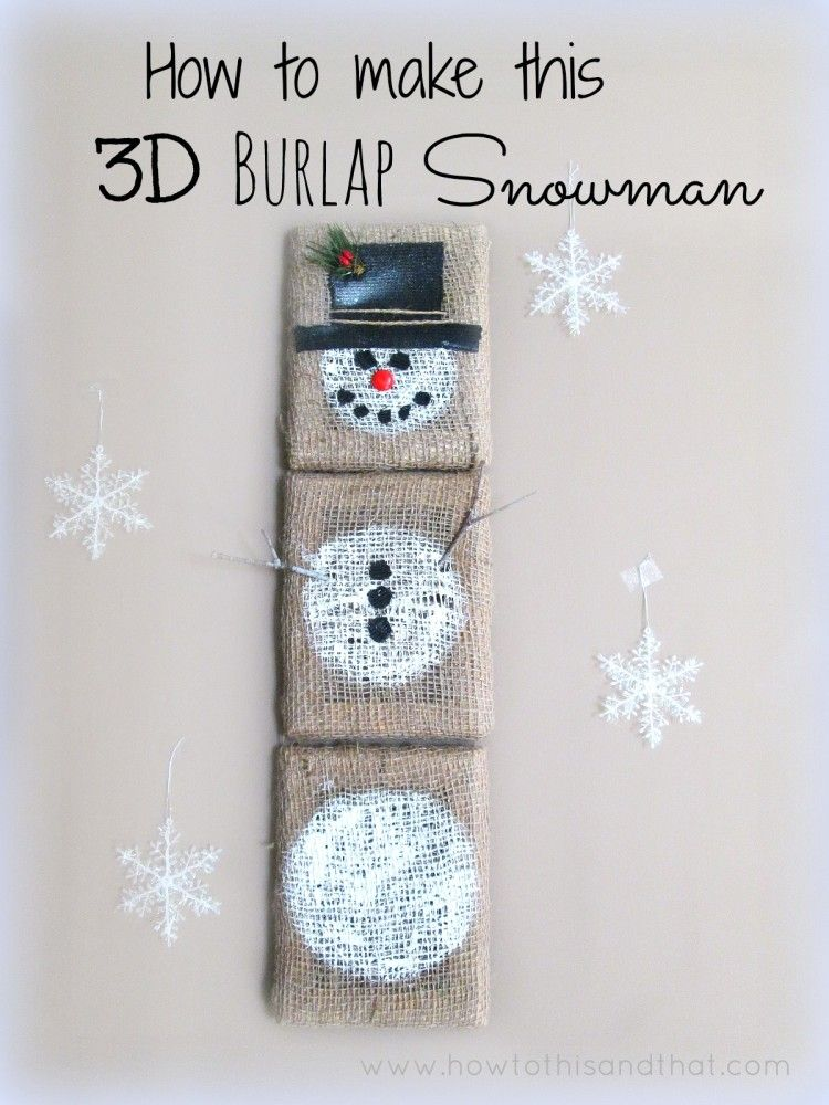 Wall Hanging Craft Ideas For Kids Part - 48: Burlap Craft Snowman Wall Hanging , Easy Kids Crafts , DIY Home Decor