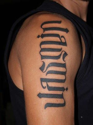 Bicep Name Tattoo Ideas Tattoo Designs Ambigram Tattoo