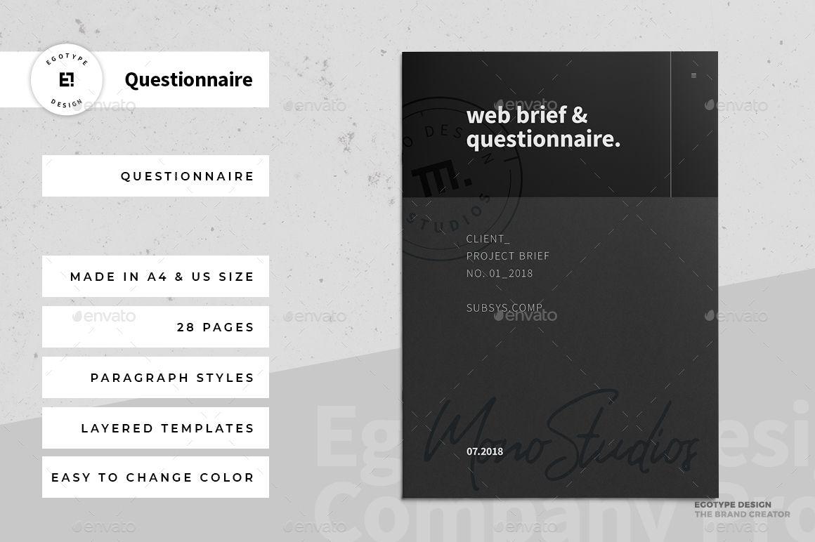 Questionnaire Web Design Portfolio Template Design Web Design Free Business Card Templates