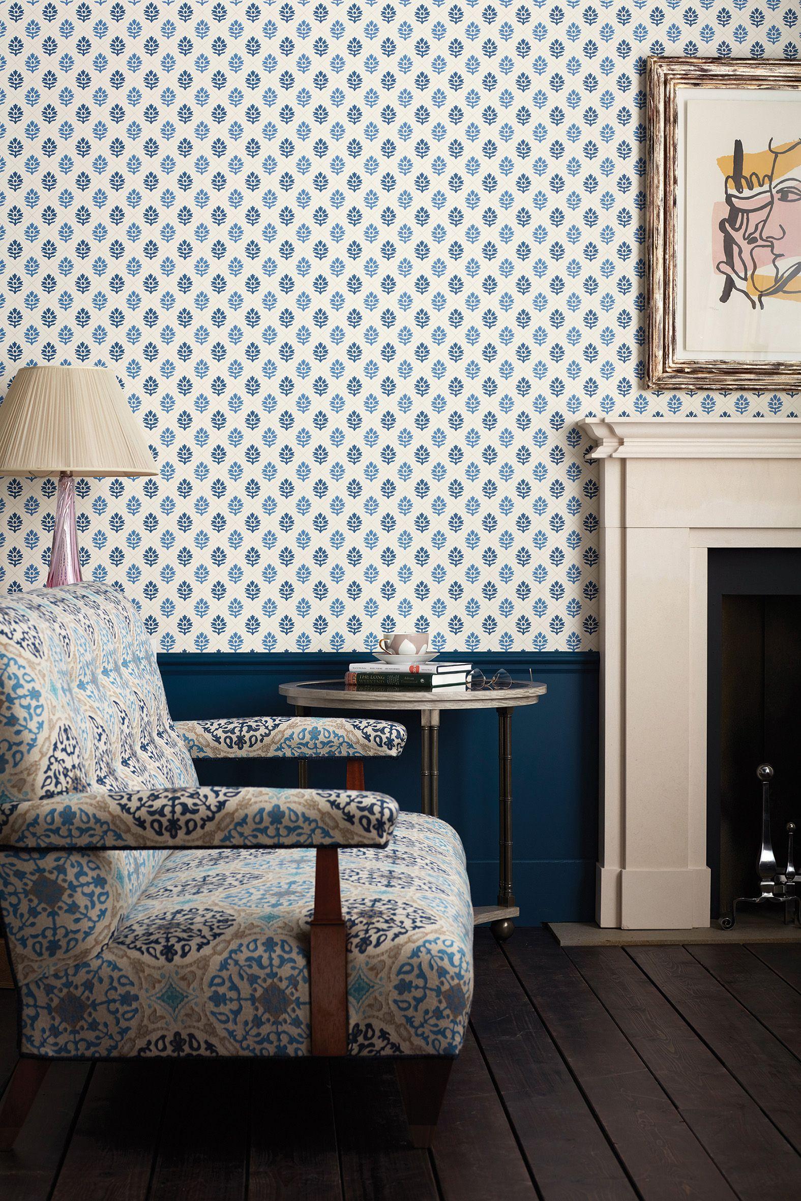 Pin by Osborne & Little on On Colour Blue & White Nina