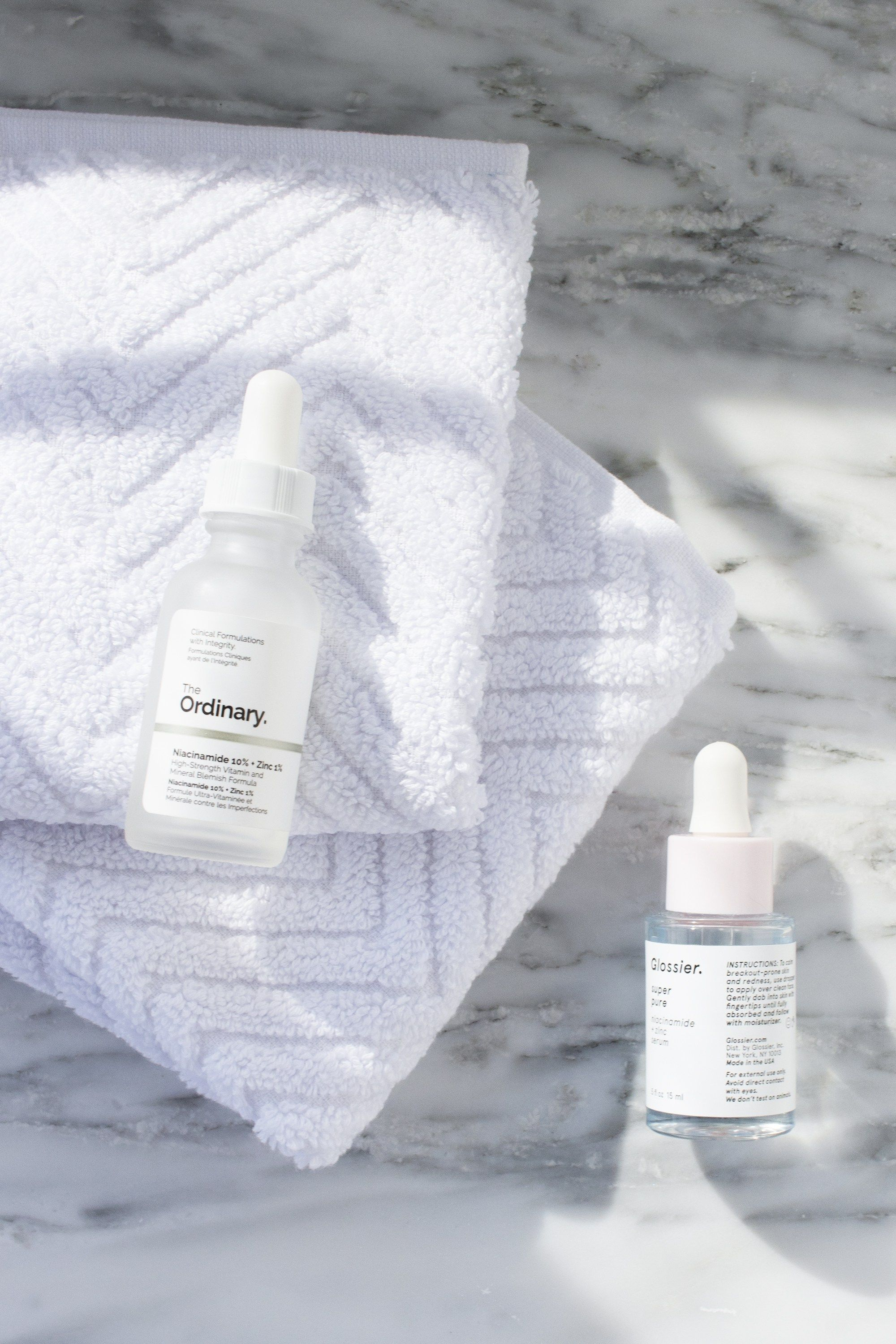 Glossier Super Pure Vs The Ordinary Niacinamide Zinc Serum Caked To The Nines Glossier Super Pure The Ordinary Niacinamide Super Pure
