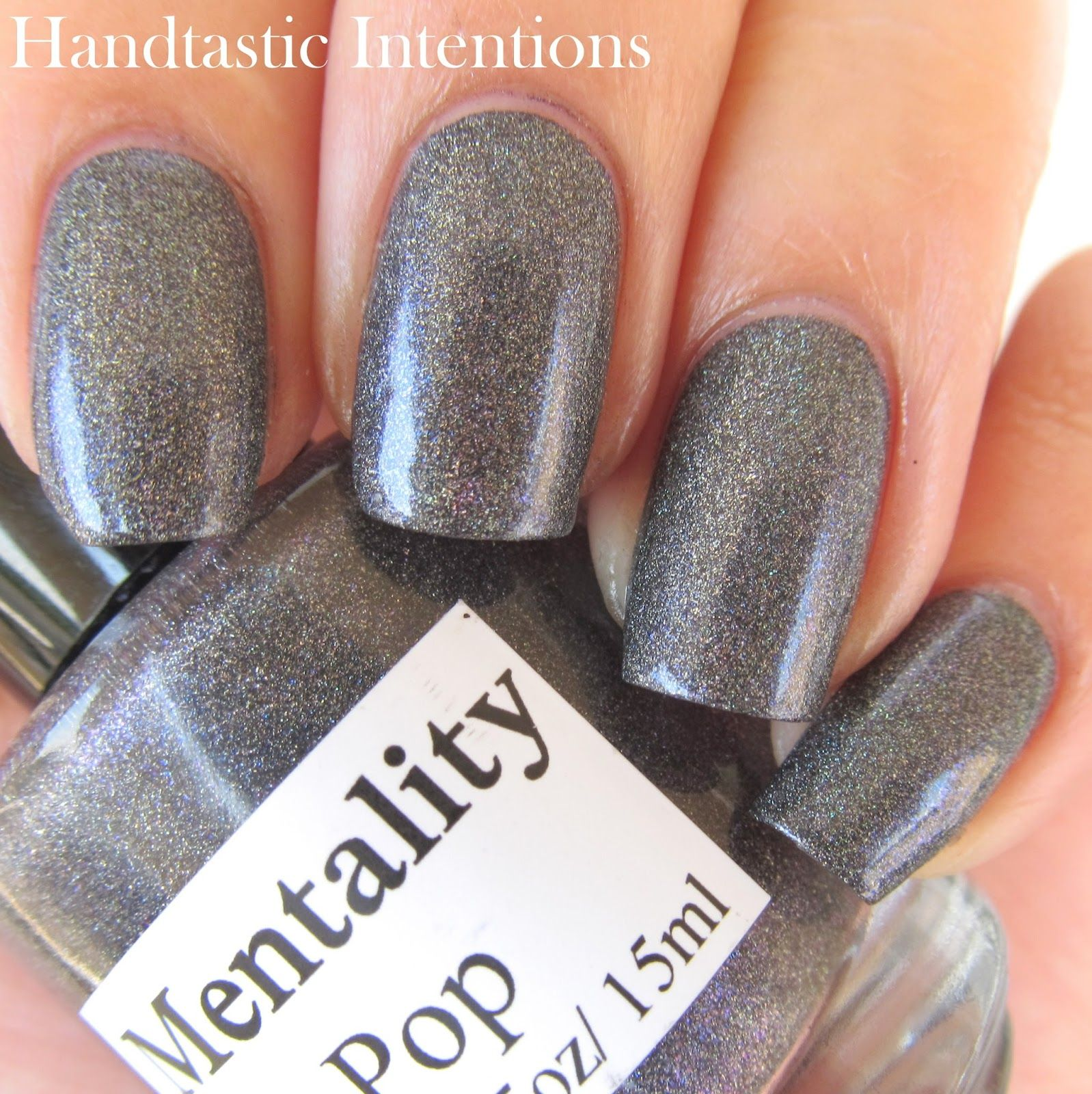 Mentality Sparkplug with glossy topcoat. Swatch by Lacquer