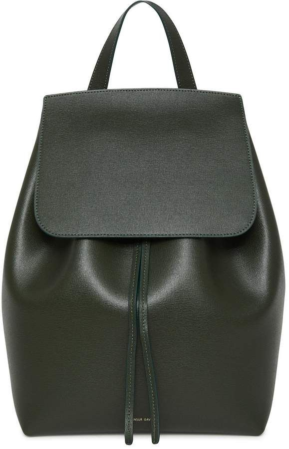 9ea345afe9b Mansur Gavriel Saffiano Backpack - Moss in 2019 | Products ...