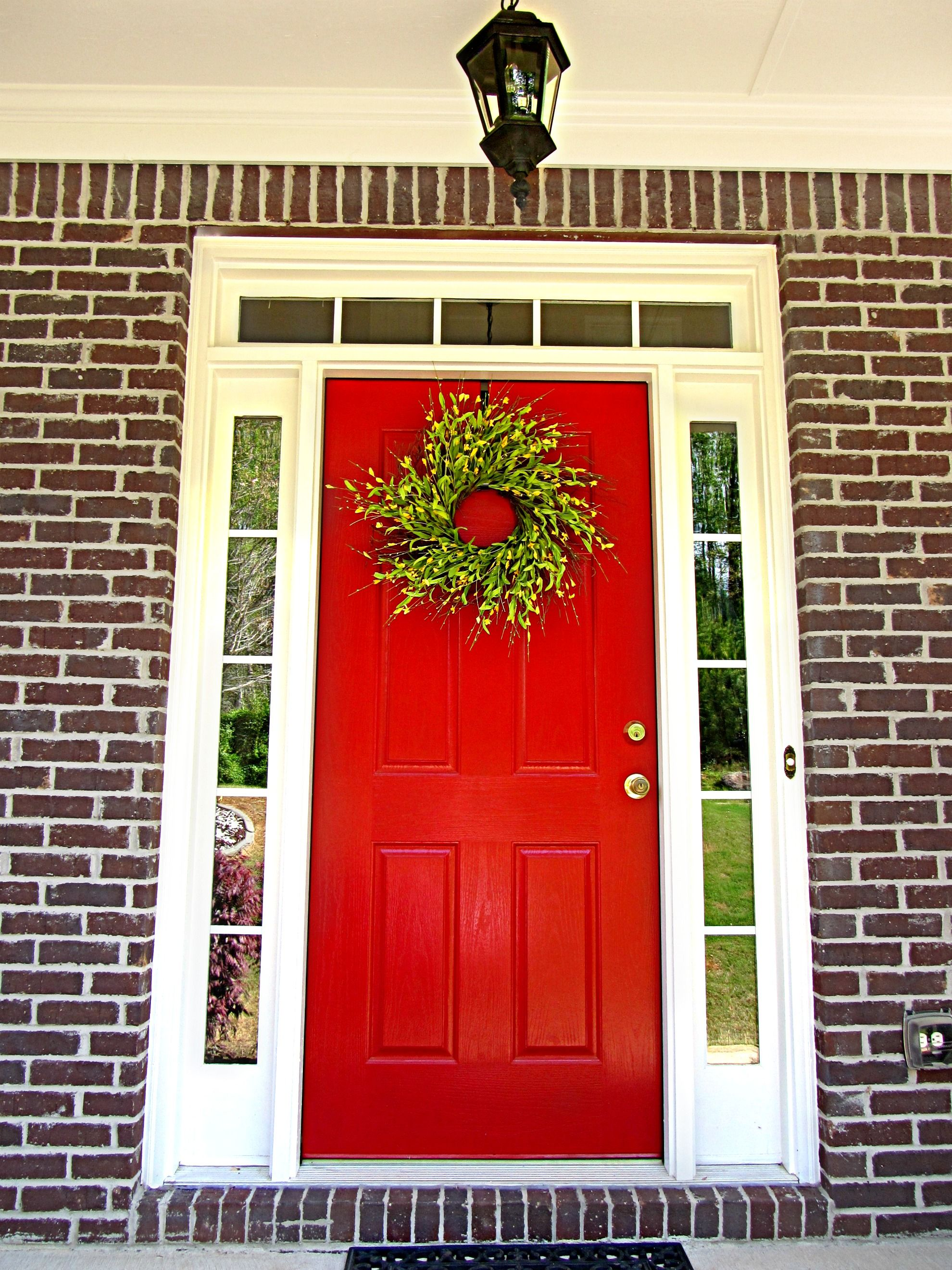 Red Front Door Puerta Principal Pinterest Front Doors Bricks