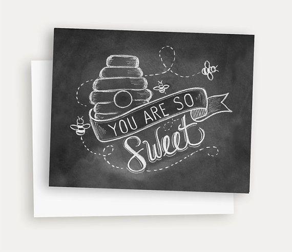 Bee kaart de kaart van de lente You Are So Sweet door LilyandVal