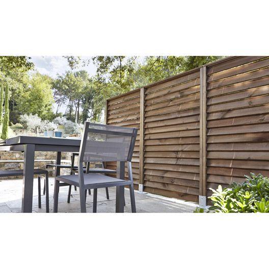 kit panneau droit avec persienne 80x180 cm jardin en. Black Bedroom Furniture Sets. Home Design Ideas