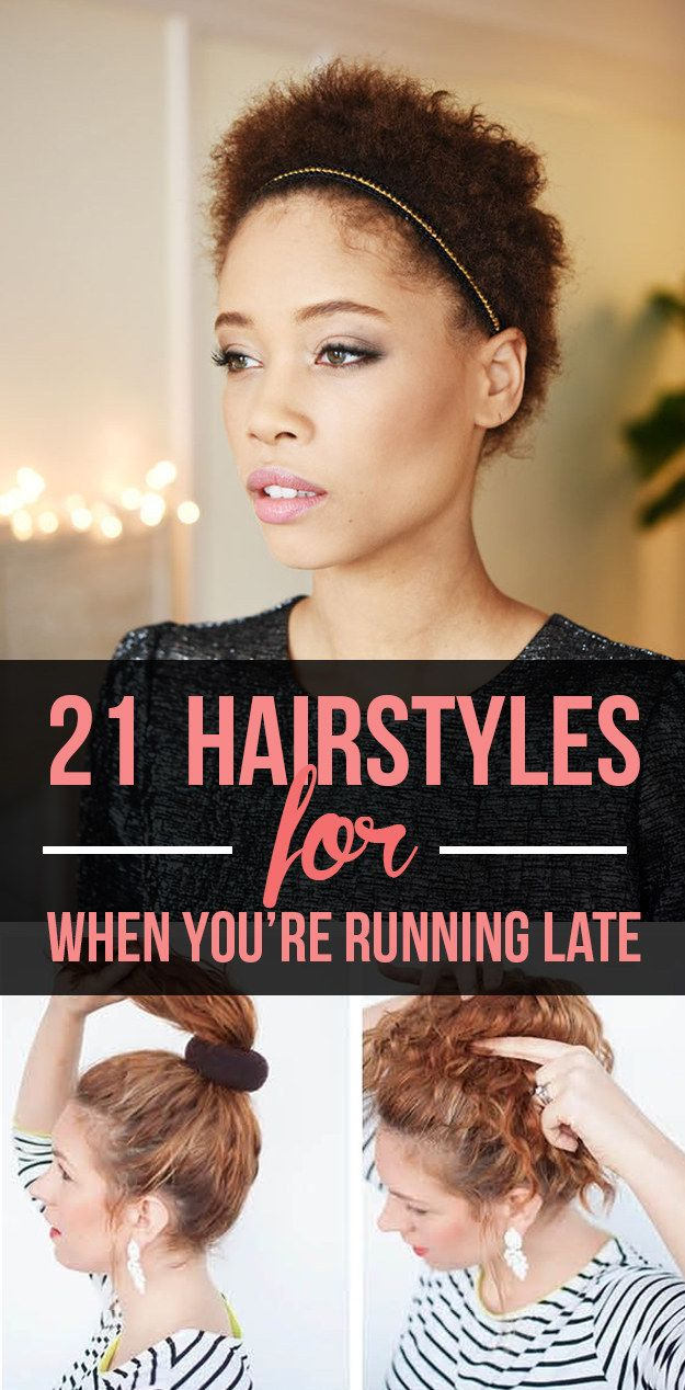 hairstyles you can do in less than five minutes st hair