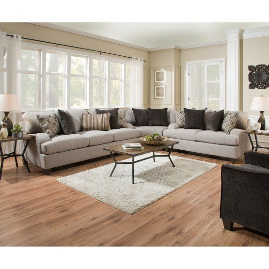 simmons upholstery lennox sterling sectional sofa with optional rh pinterest com