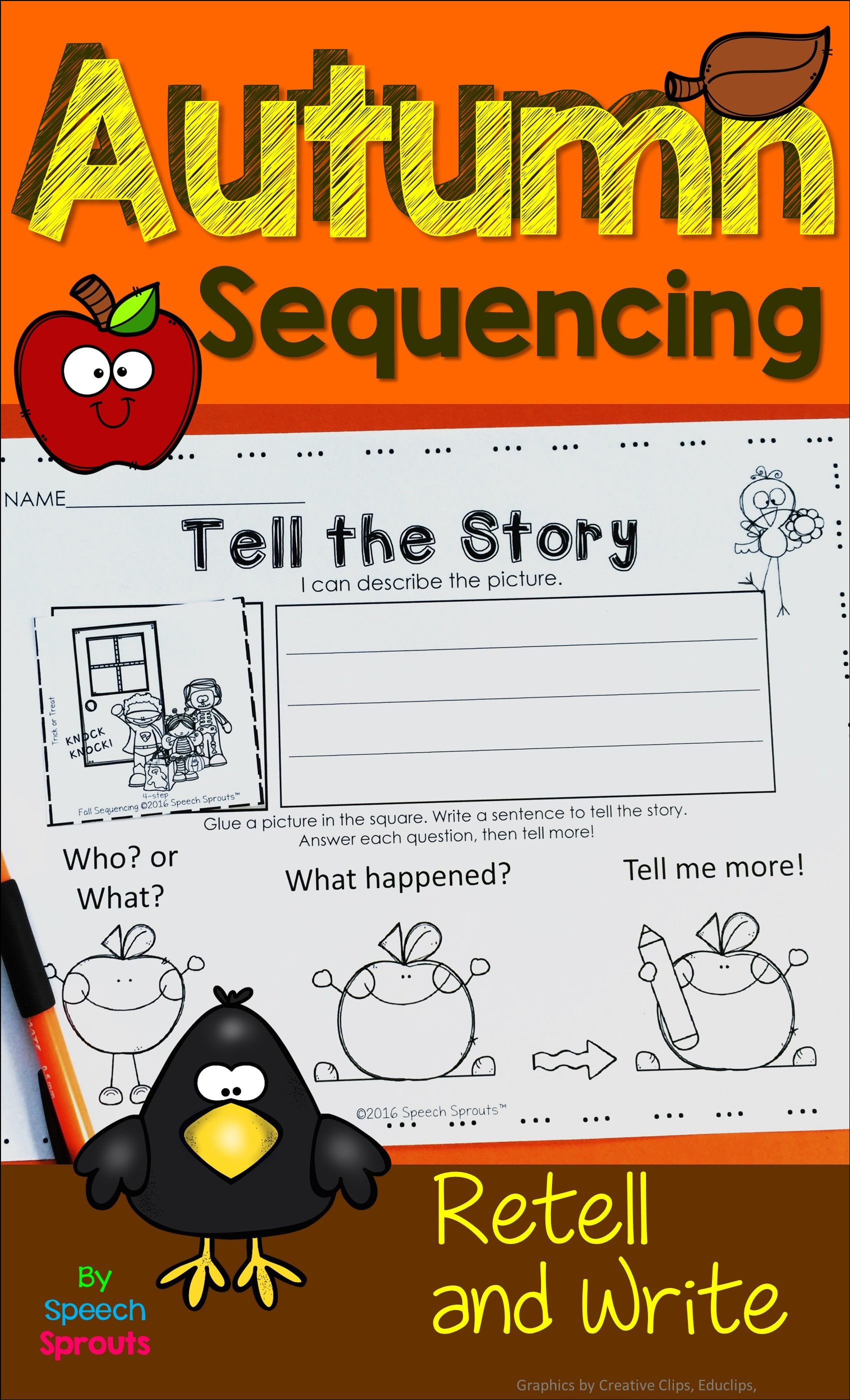 Fall Sequencing Activities With Story Retell Amp Writing