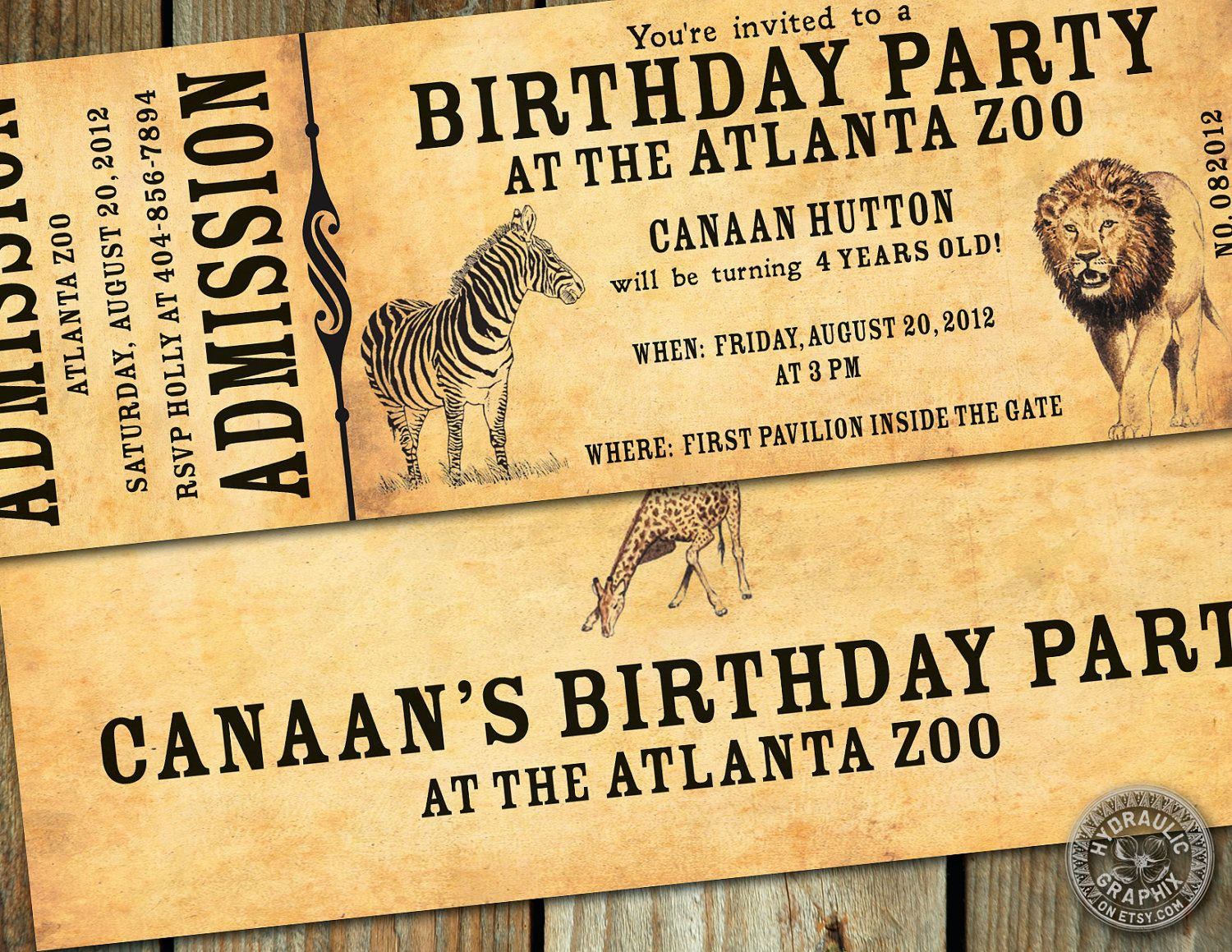 Zoo birthday party invitation printable zoo ticket invitation zoo birthday party ticket invitation printable zoo ticket invite kids birthday party at zoo vintage zoo ticket kids zoo party invite stopboris Choice Image