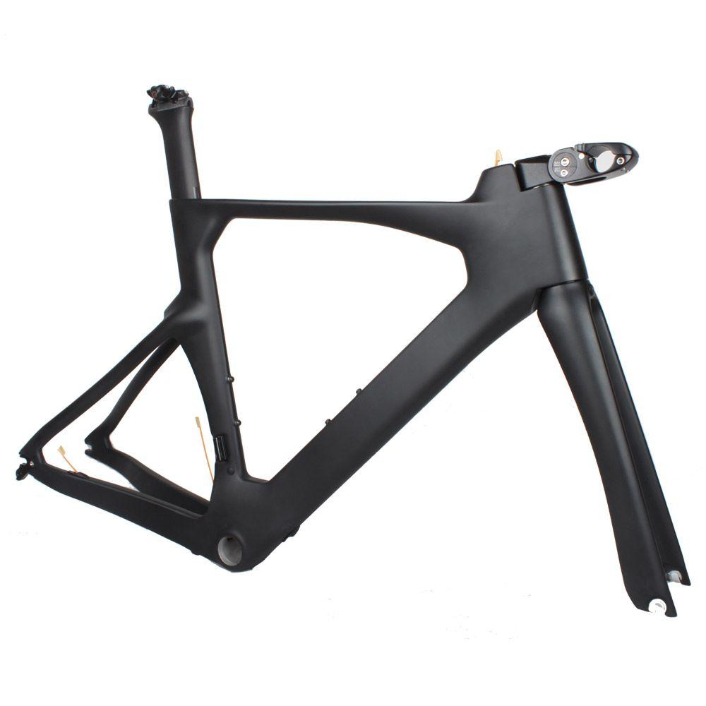 OEM Carbon Time Trial TT Bike Frame Set With Adjustable Stem Carbon ...