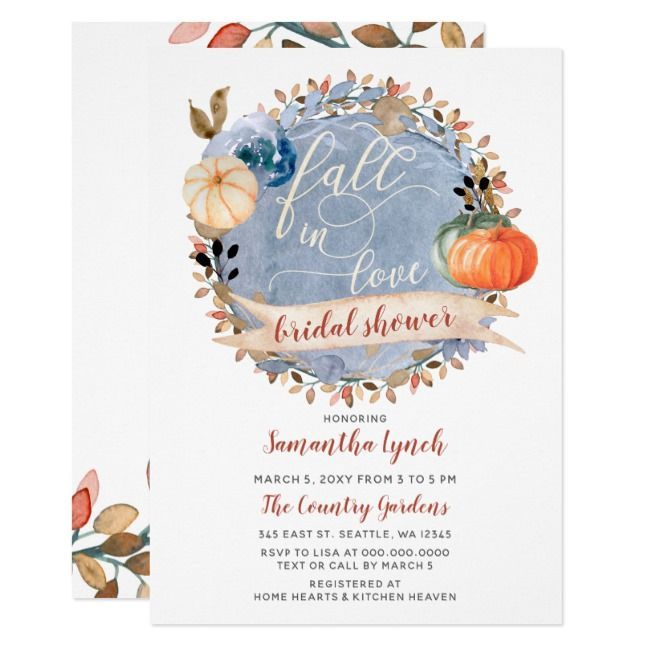 Most recent Pics fall Bridal Shower Invitations Strategies ...
