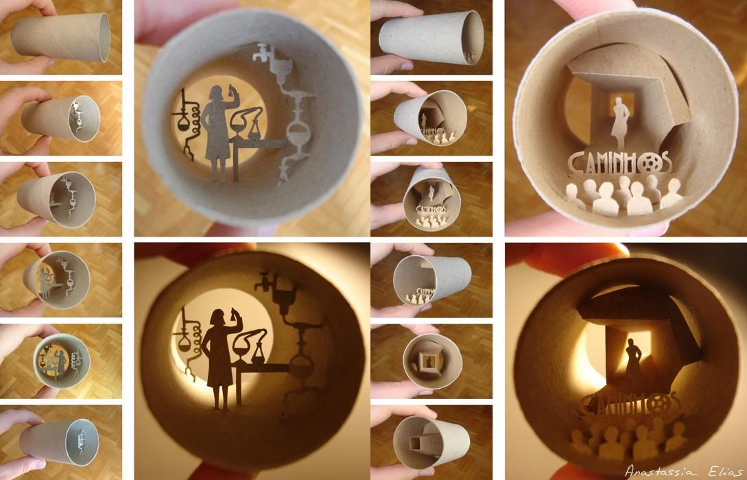 Anastassia Elias Paper Craft from Toilet Paper Rolls